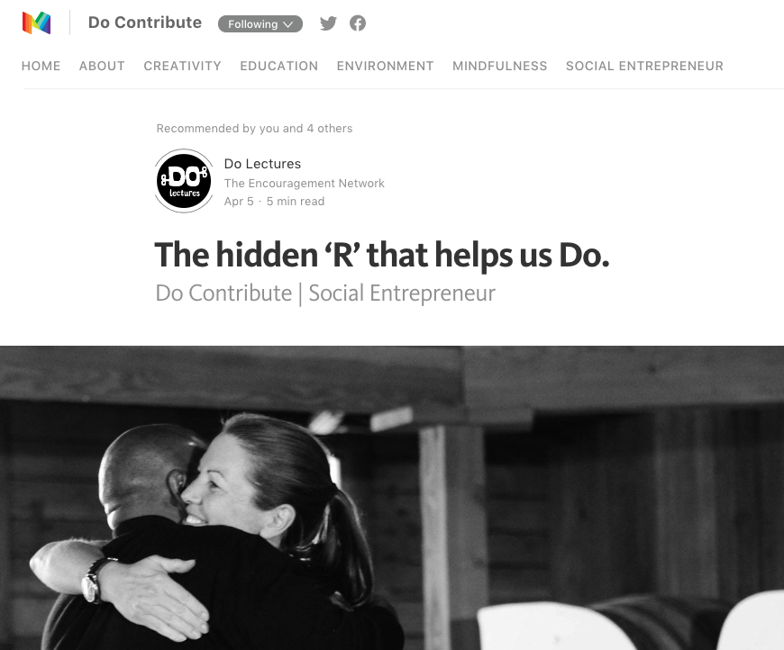 Image from Do Contribute Article - The hidden R that helps us DO.