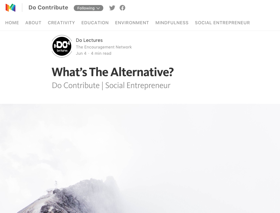 Image from Do Contribute article - What's the alternative.