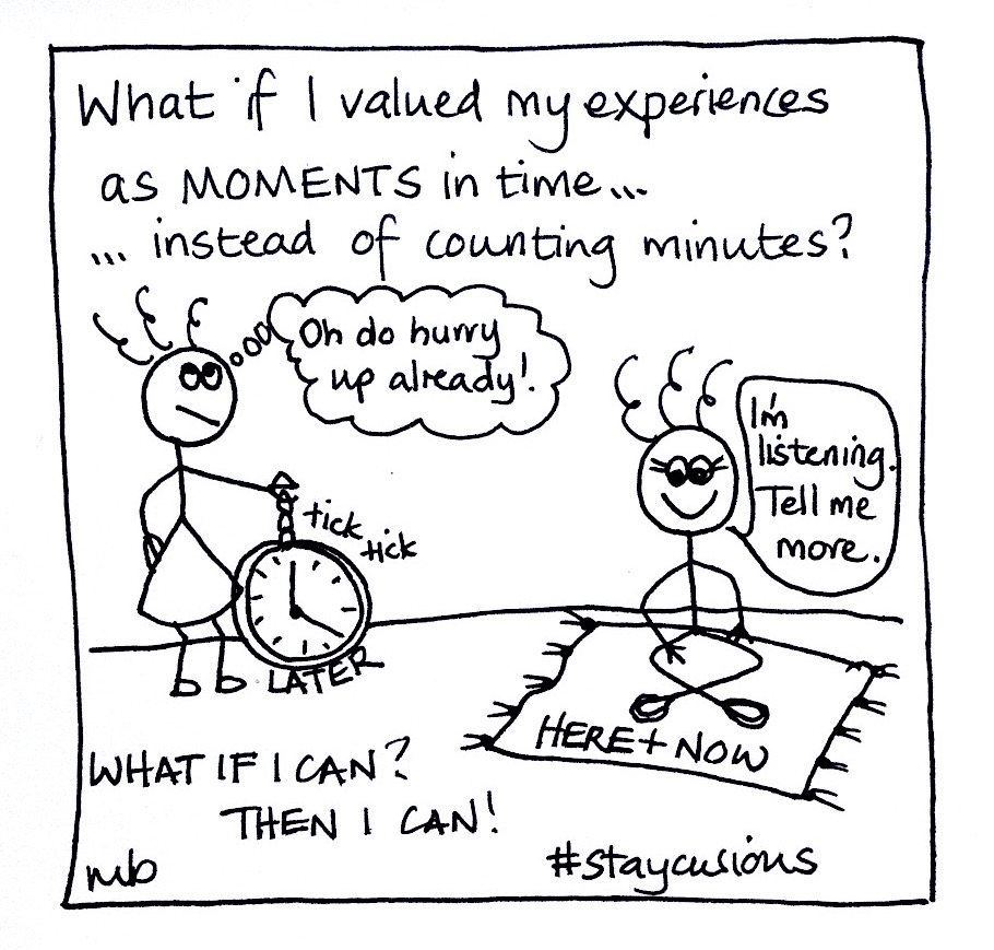 Mich Bondesio - Doodles - What if I valued my experiences as moments in time, instead of counting minutes?
