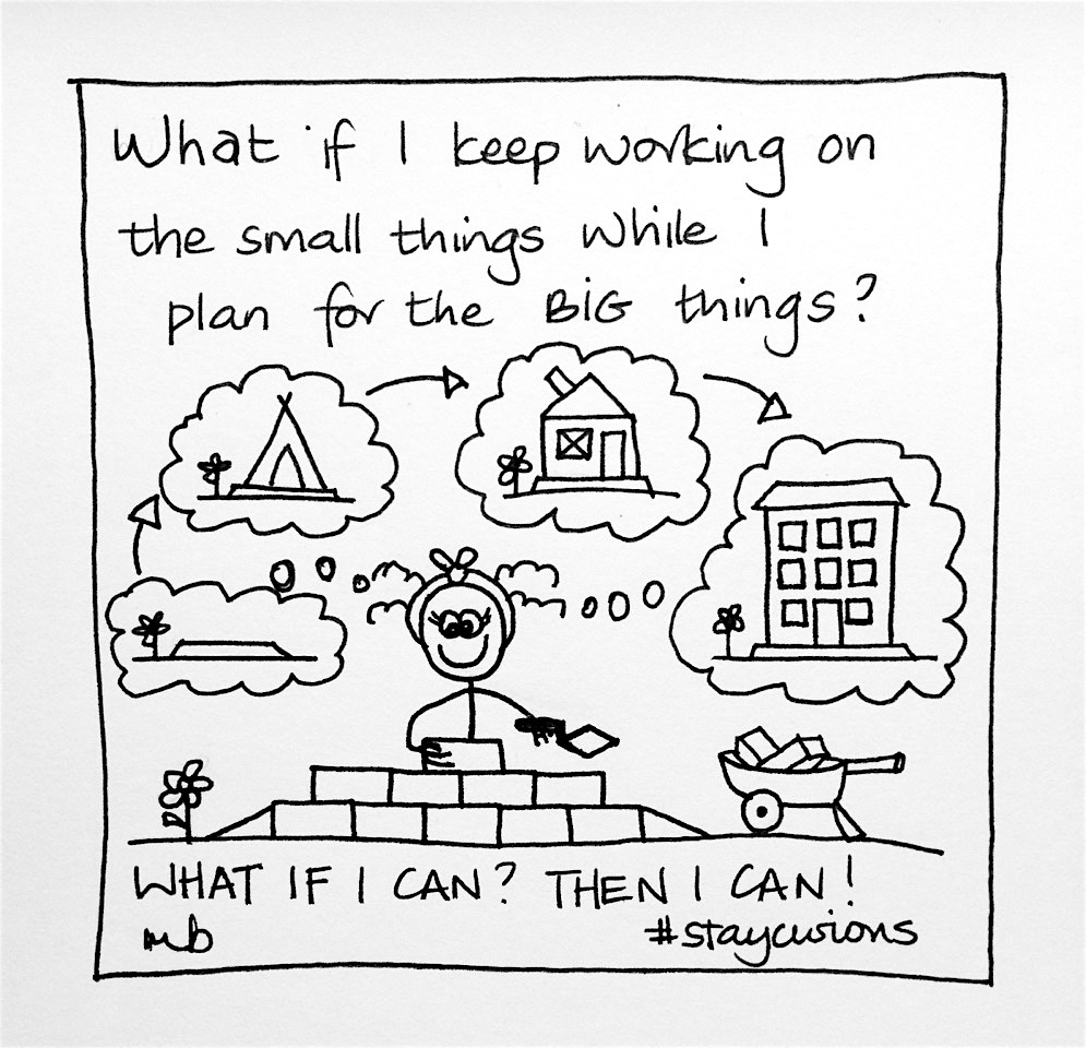 Mich Bondesio - Doodles - What if I keep working on the small things while I plan for the big things?