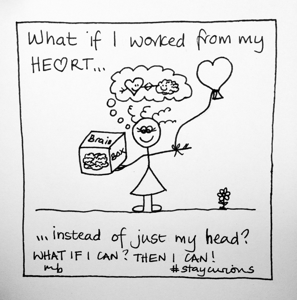 Mich Bondesio - Doodles - What if I worked from my heart, instead of just my head?