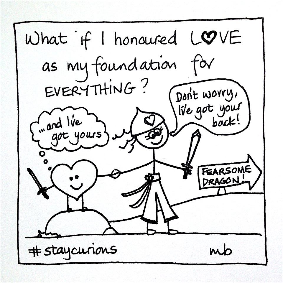 Mich Bondesio - Doodles - What if I honoured love as my foundation for everything?