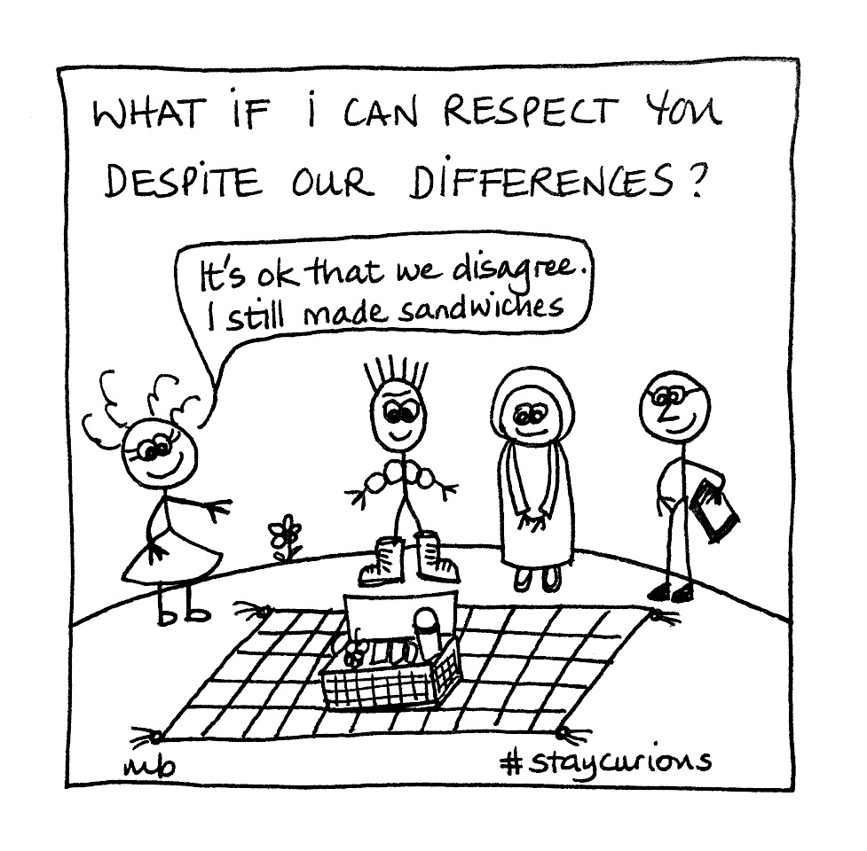 Mich Bondesio - Doodles - What if I can respect you, despite our differences?