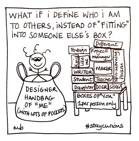 Mich Bondesio | Doodles | What if define who I am to others, instead of fitting into someone else's box?