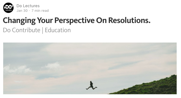 Perspectives on New Years Resolutions