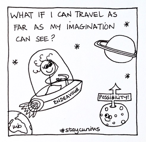 What if I can travel as far as my imagination can see?